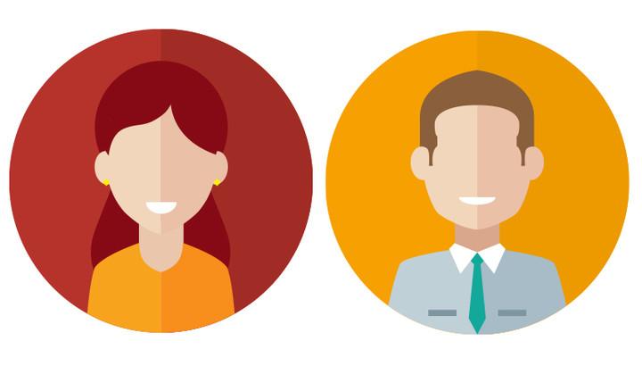 homme et femme en dessin