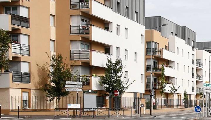 Vue exterieure logements carré Affinnity