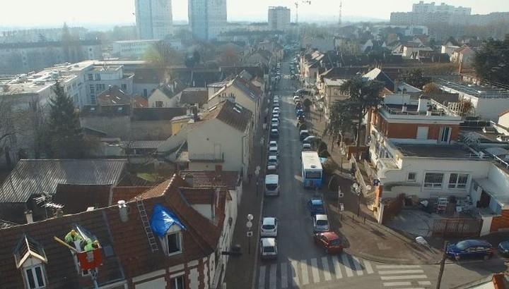 Vue aérienne centre ville Bonneuil