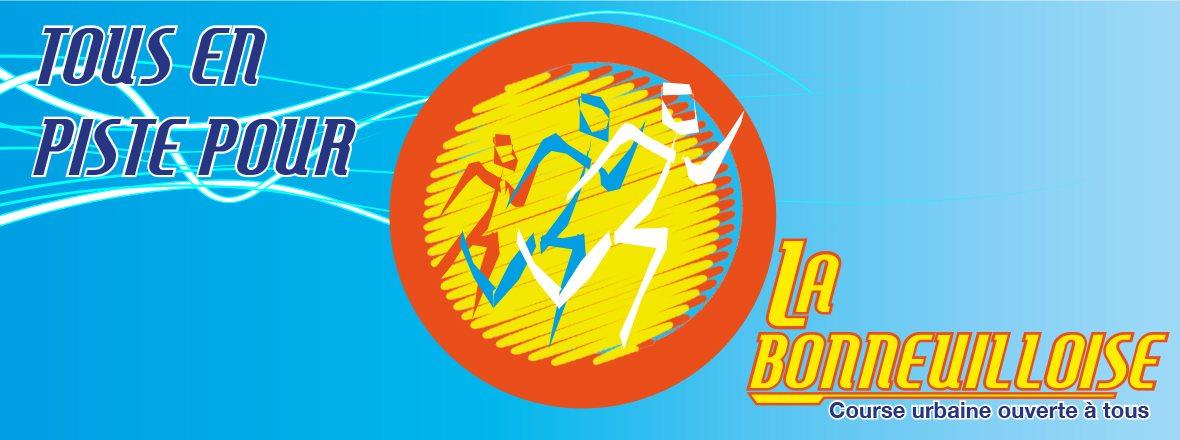 Logo La Bonneuilloise avec des coureurs